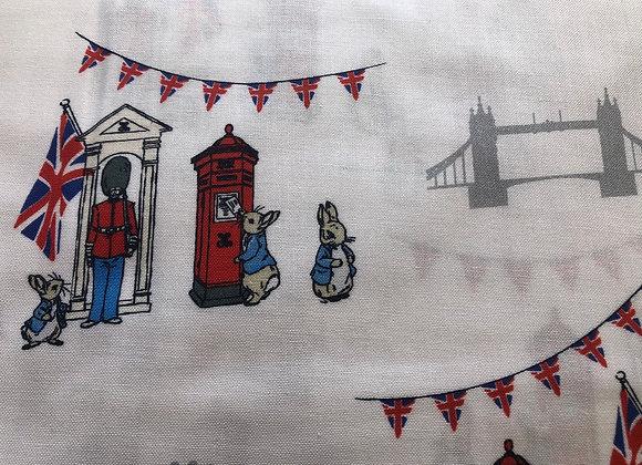 Peter Rabbit London cotton