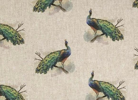 Peacock linen look