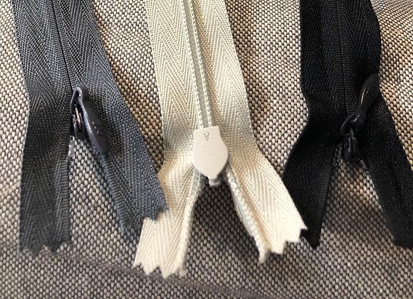 Concealed zips