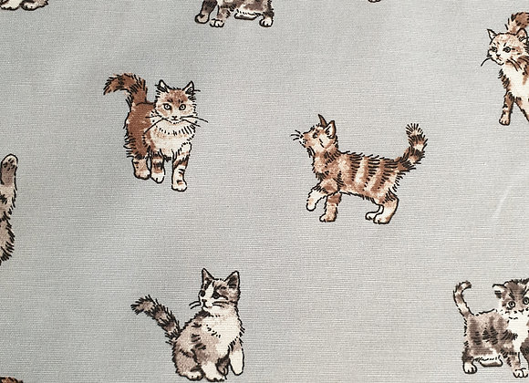 Shabby Cats ( duckegg) linen look