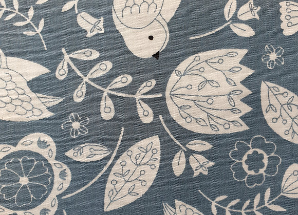 Floral and birds cotton 32