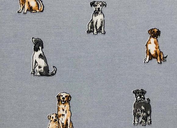 Shabby dog grey, linen look