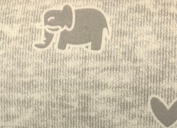 Elephant and heart jersey grey