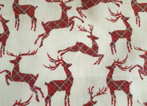 Deer polycotton. Christmas