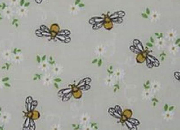 Bee's and flowers polycotton