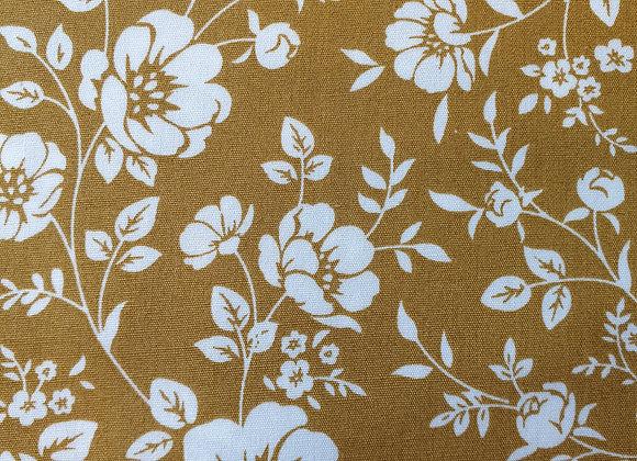 Ochre floral cotton  13