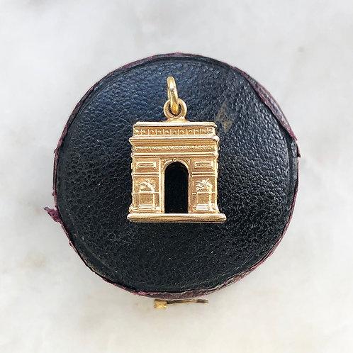 Vintage gold Arc de Triomphe charm