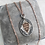 Thumbnail: Vintage engraved 'Love guides me' silver and rose gold fob with chain necklace