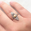 Thumbnail: Antique gold diamond and pearl navette ring