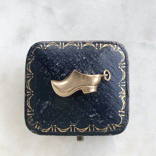 Vintage 9ct gold clog shoe charm