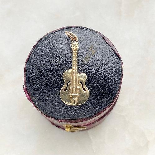 Vintage 1967 9ct gold guitar charm
