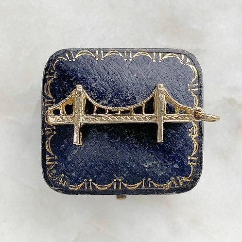 Vintage 1966 9ct gold bridge charm