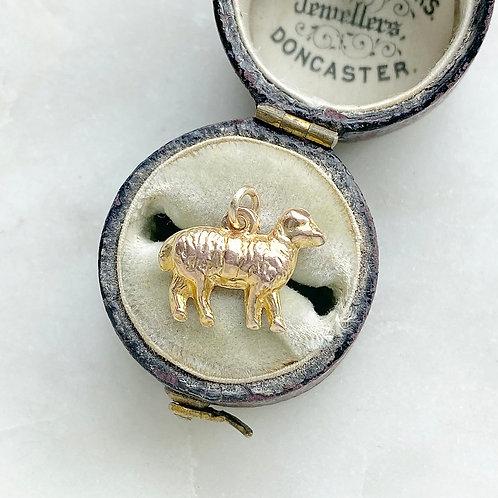 Vintage 1976 9ct gold lamb/sheep charm