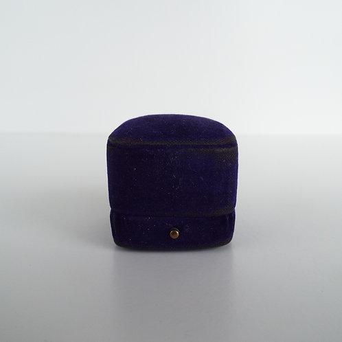Antique purple velvet ring box
