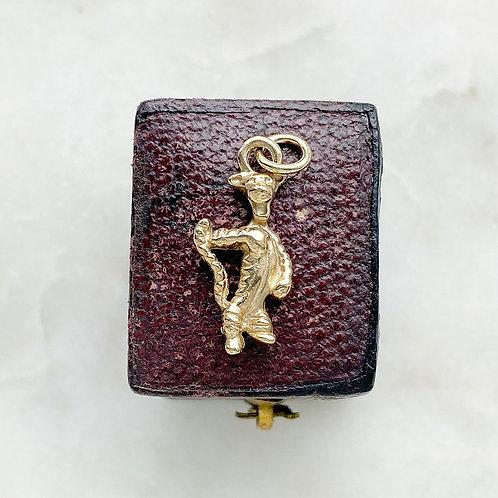 Vintage 9ct gold Tigger charm