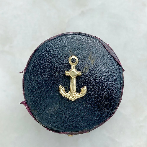 ON HOLD Vintage 9ct gold tiny anchor charm