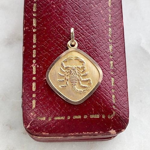 Vintage gold Scorpion charm
