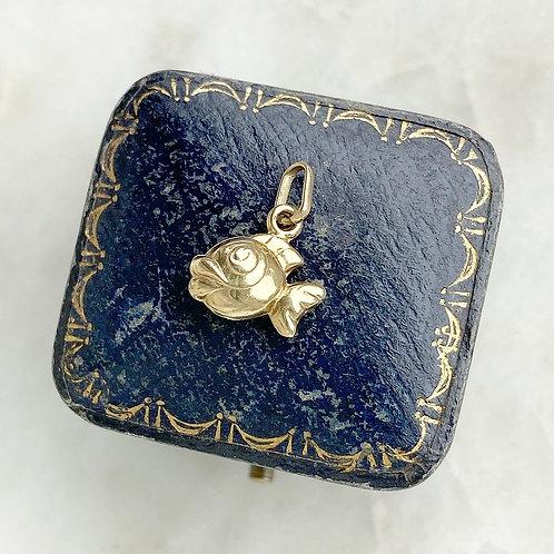 Vintage 9ct gold little fish charm