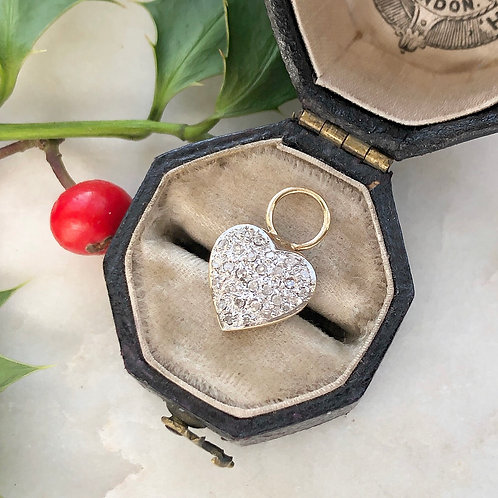 Vintage gold and diamond heart