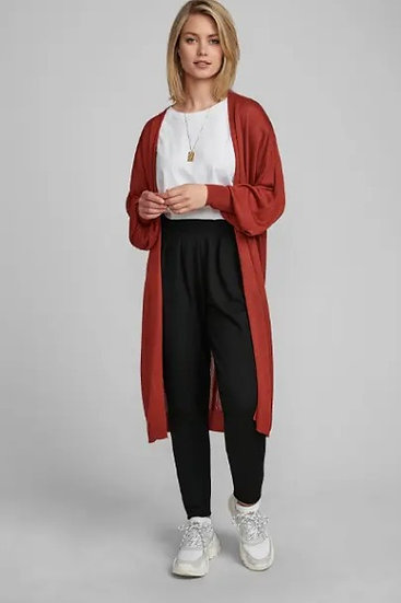NUBIA LONG CARDIGAN RED