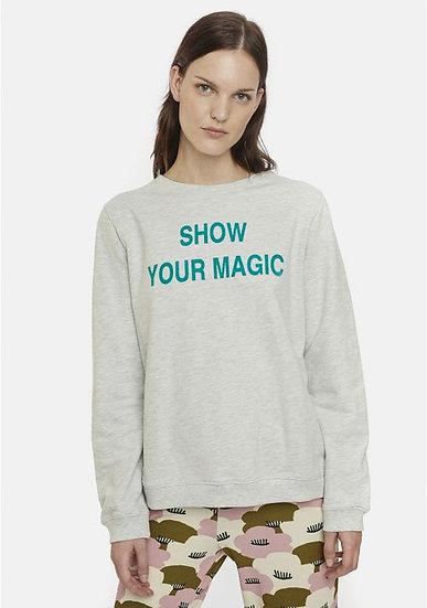 SUDADERA GRIS FRASE SHOW YOUR MAGIC