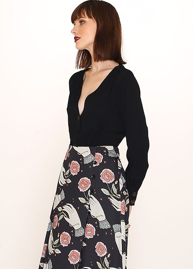 FALDA HANDS PRINT SKIRT