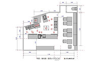 厨房導入事例:CASE2:カフェ(厨房配置図)