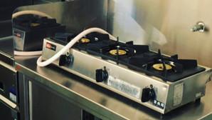 【中古|厨房機器:納品実績】卓上3口ガスコンロ|リンナイ|RSB-306A|2015年|幅738奥行275高さ151|Eテンポ厨房.COM大阪