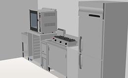 厨房導入事例:カフェ加熱機器