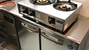 【中古|厨房機器:納品実績】ガステーブルコンロ<親子>|マルゼン|M-212C|2018年|幅595奥行420高さ160|Eテンポ厨房.COM大阪