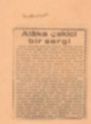 Nurullah Ataç  Medeniyet Gazetesi Haziran 1955