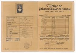 Robert College Diploma, 1947