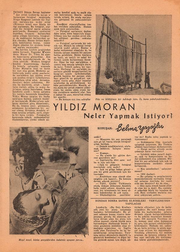 Selma Yazoğlu  Resimli Yirminci Asır Mecmuası 23 Mayıs 1957