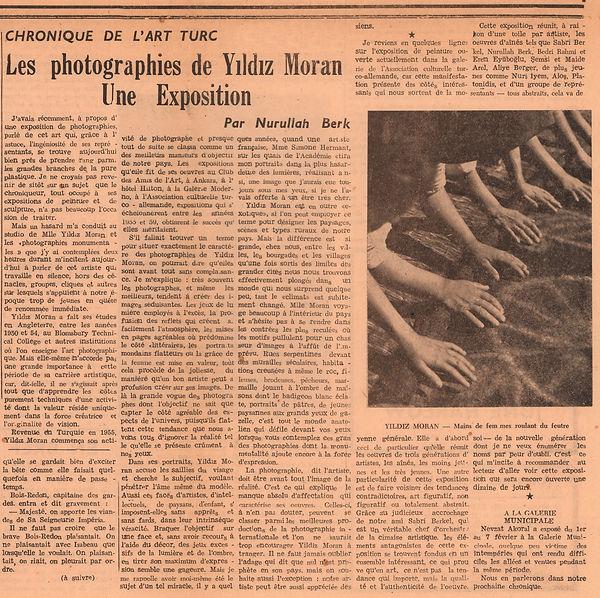 Nurullah Berk  Istanbul - Quotidien Du Soir Politique Et Littéraire / Günlük Siyasi ve Edebi Yaşam  9 Şubat 1960