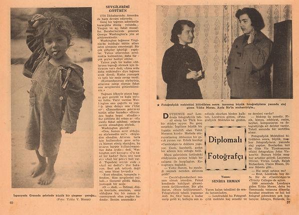 Seniha Erman  Ayda Bir Mecmuası  Ocak 1955