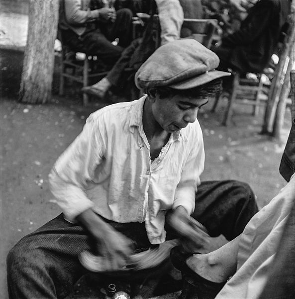 SHOESHINE BOY / AYAKKABI BOYACISI, Anatolia, Turkey 1955