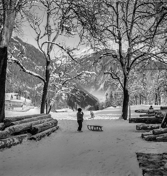 WINTER / KIŞ, Finkenberg, Austria 1951