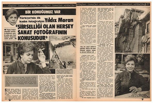 Yıldız Moran / Röportaj  Ses Dergisi  25 Haziran 1983