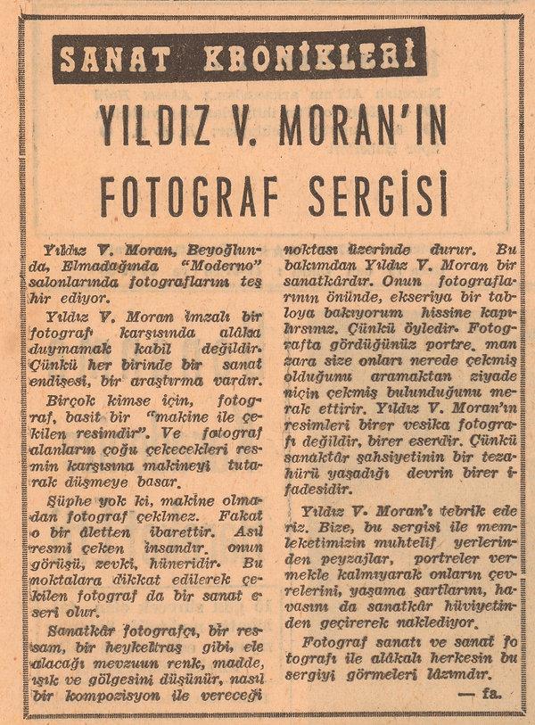 Fikret Adil  Yeni İstanbul Gazetesi  16 Mayıs 1957
