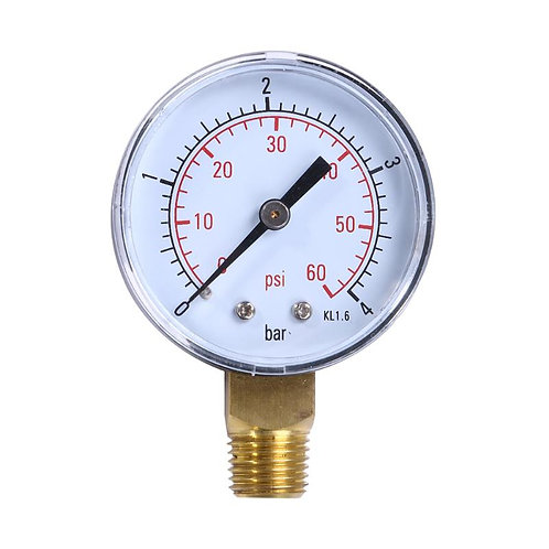 Pool Filter Water Air Oil Vacuum Dry Utility Pressure Gauge 60PSI