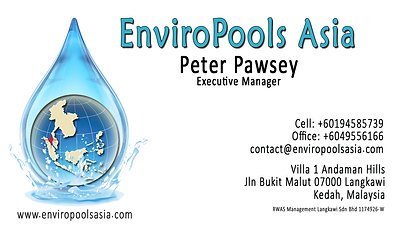 Business card EnviroPools Asia