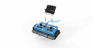 iCHRoboter 200D robot pool cleaner for Large resort ad olympic size pools