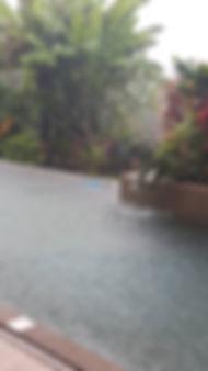 Pool Robot working in the rain