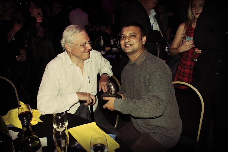 With Sir David Attenborough