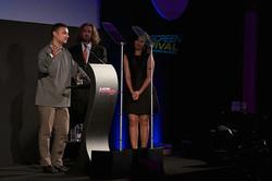 Receiving the Panda Award