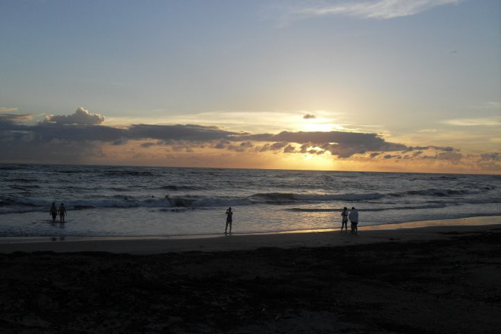sunset over the pacific ocean in Costa Rica