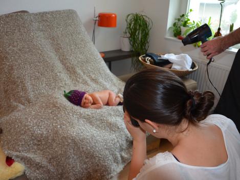 Making-Of Newborn-Fotoshooting Frankfurt