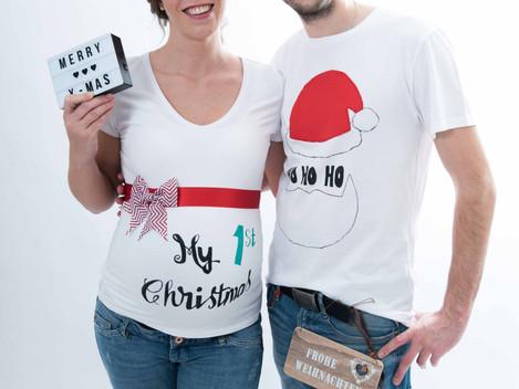 Weihnachts-Babybauchshooting in Friedrichsdorf