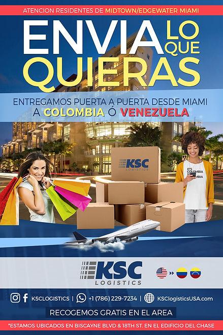 Envios a Colombia casillero Colombia casillero 4-72 aeropost