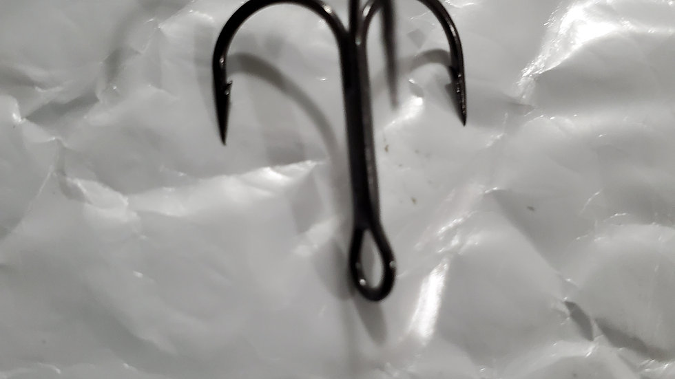 Size #4 Black Nickle Extra Sharp Short-shank Replacement Trebles